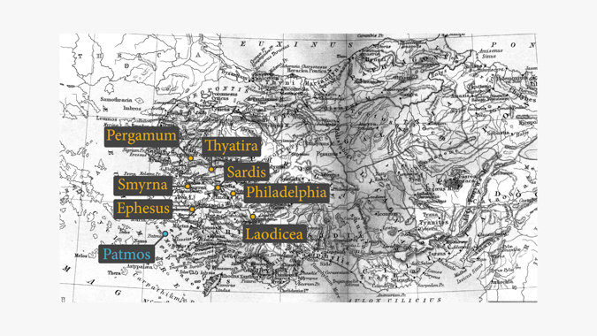 Map of the Seven Churches from Revelation