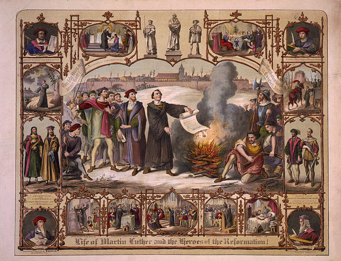 The life of Martin Luther and heroes of the reformation
