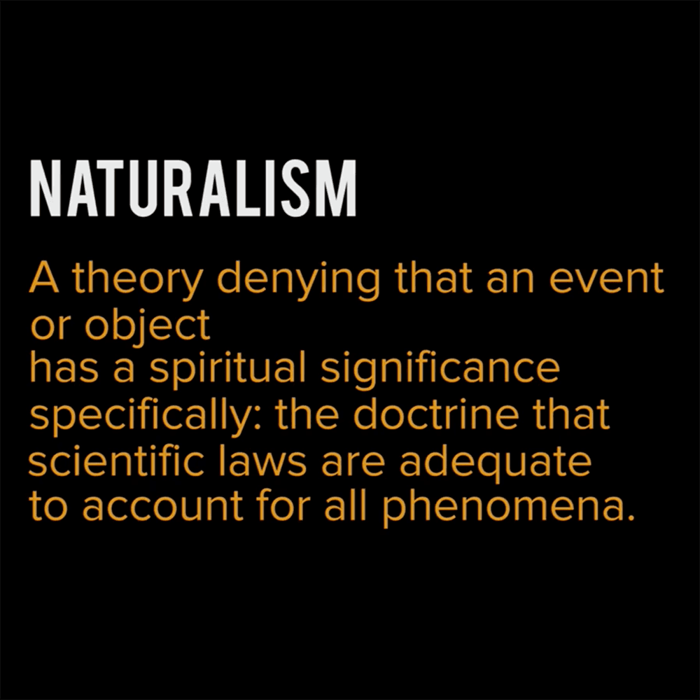 Definition of Naturalism from Mining for God