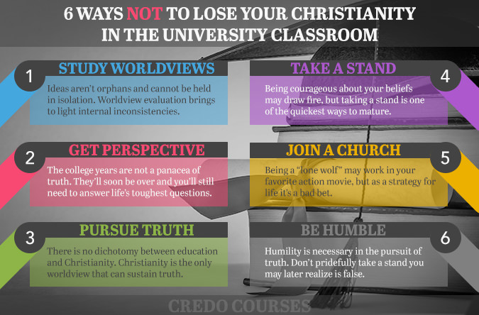 6 Ways NOT to Lose Your Christianity in the University Classroom