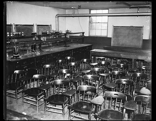 Rows of Chairs in a Laboratory Classroom