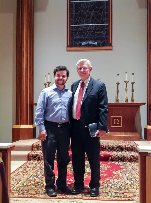 Dr. Peter Lillback with Ted Paul at Grace Bible Church in Oklahoma City